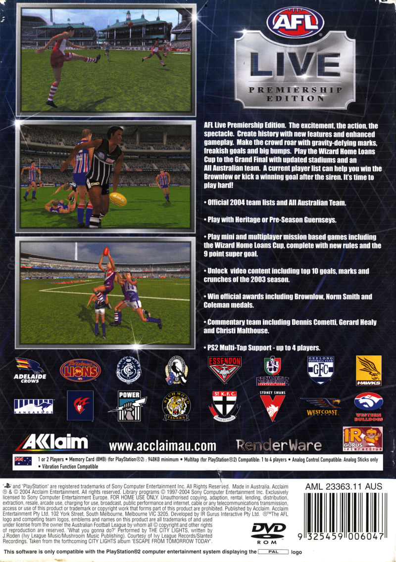 AFL Live Premiership Edition